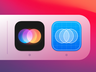 Around / macOS App Icons (production + stage) icons icon set icon logo branding design app application ui