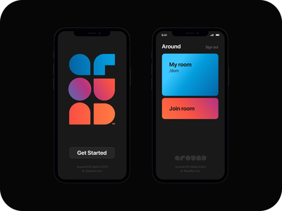 Around / Mobile Alpha Version branding design app application iphone ui mobile