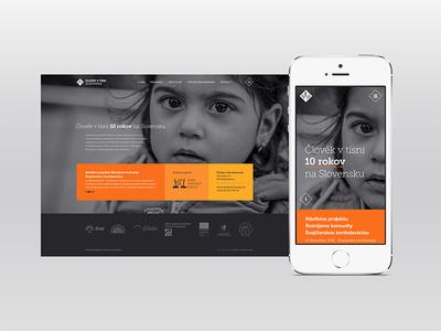 People in Need / Website charity website mobile karma