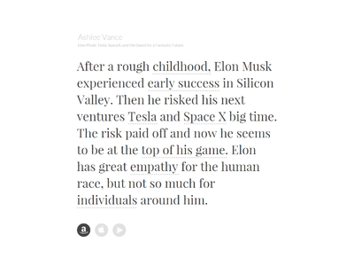 Non–Linear Book Reading Experience idea text medium experience rx elon musk extract reading ux book