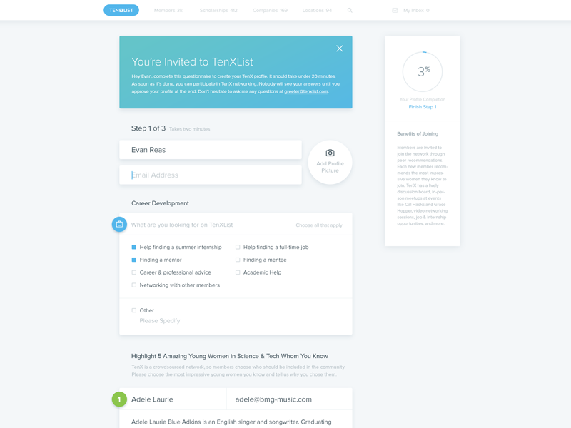 10xlist Forms conversion web design input submit ui form