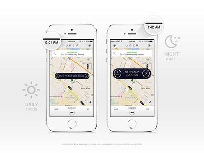 Night Mode / Uber {Design Exercise}