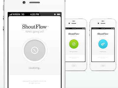 ShoutFlow / Splash + Loading circle simplicity simple clean shoutflow retina iphone ui mobile screen app android loading