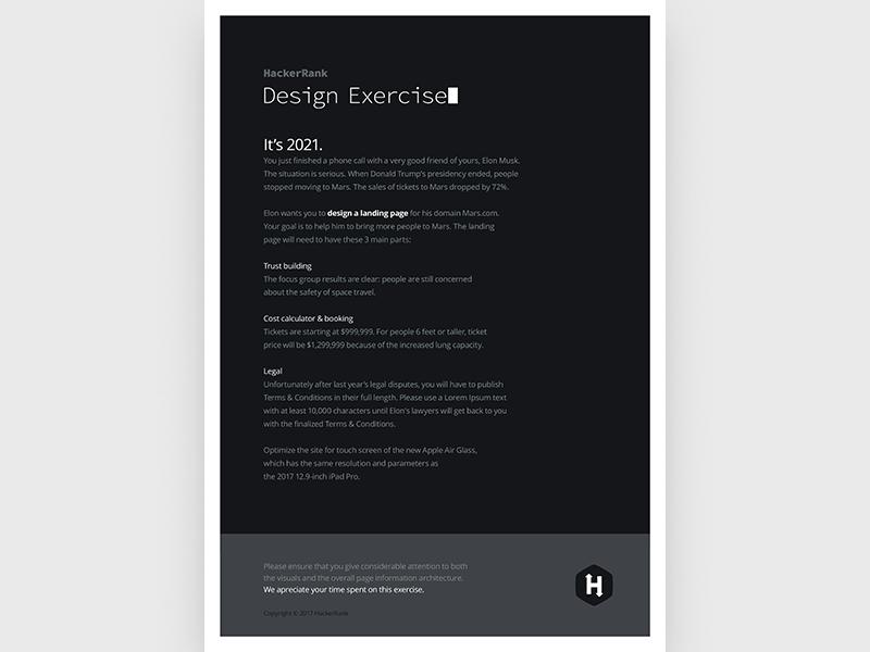 Hackerrank / Design Exercise design hackers hackerrank design exercise