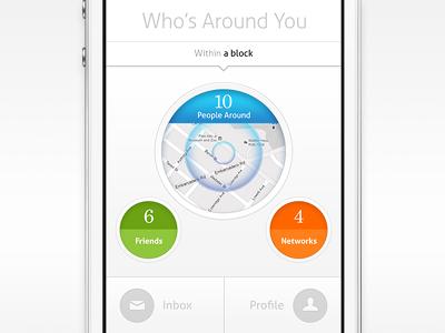 Circle circle simplicity simple clean retina iphone ui mobile design screen ios android
