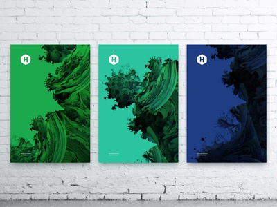 HackerRank / Office 3 Canvases code generated art print canvas hiring office hackerrank