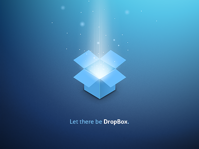 Let There Be Dropbox dropbox dribbble playoff logo graphic design box cloud light