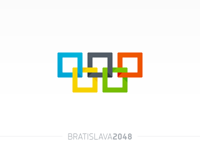 Bratislava 2048 logotype olympic games logo identity bratislava slovakia 8bit 2048