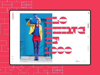 1990 #1 clothing design slider mondrianizm colorfull design uidesign ui clothe clothing
