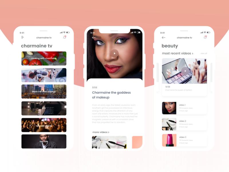 Charmaine #3 designs app colorfull uxdesign ux design ui uidesign