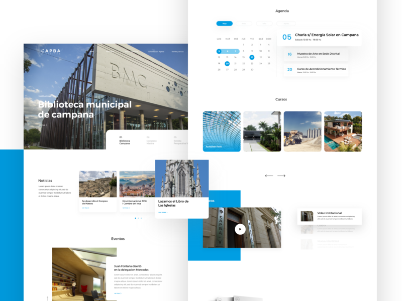 Capba website architect web website colorfull uxdesign design ux uidesign ui