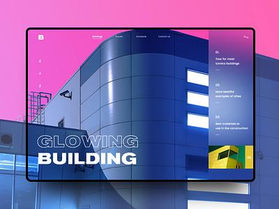 Buildings #1 color buildings mondrianizm slider colorfull ui