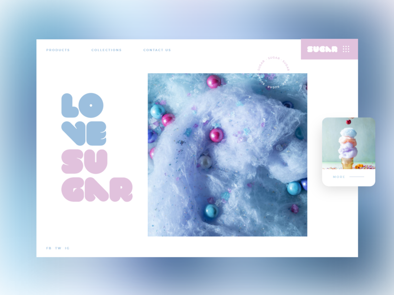 Sugar #1 slider ui mondrianizm design colorful