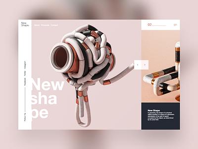 New Shape #2 3d art dribbble 3d ui colorfull mondrianizm slider dailyui shape