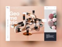 New Shape #3 ui design mondrianizm colorfull slider shape 3d 3d art