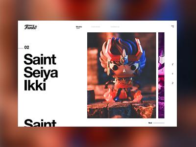 Saint Seiya #2 anime caballeros del zodiaco funko pop funko saint seiya mondrianizm colorfull design ui seiya saint graphic design