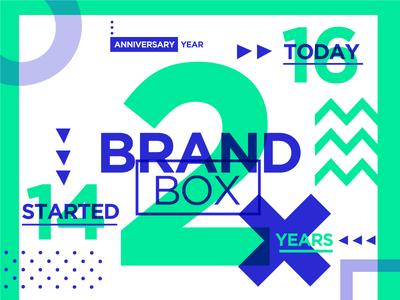 2 years of Brandbox! verde azul blue green two 2 años aniversario anniversary years brandbox