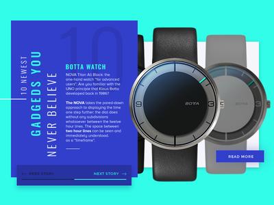 Botta Watch Widget botta watch widgets blue azul green verde reloj modern moderno tecnologia tech