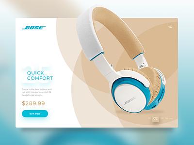 Bose Slider sound circle white brown blue headphone music bose slider