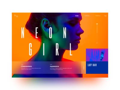 Neon slider #1 neon slider ux uxdesign uidesign ui colorfull style mondrianizm