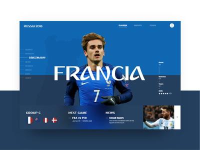 Russia World Cup - Francia (Group C) griezmann copa mundial futbol 2018 soccer slider francia cup world russia