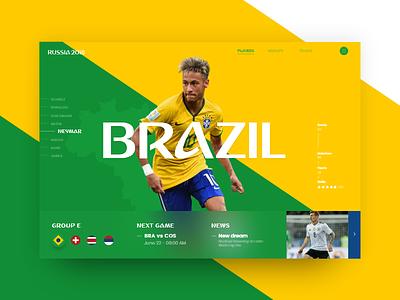 Russia World Cup - Brazil (Group E) neymar copa mundial futbol 2018 soccer slider brasil cup world russia