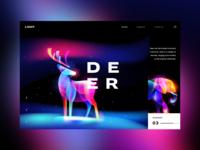 Animal lights: Deer