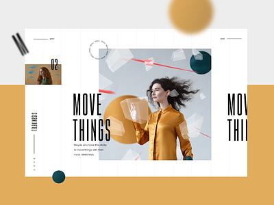 Telekinesis #1 slider uxdesign colorfull mondrianizm design ux uidesign ui