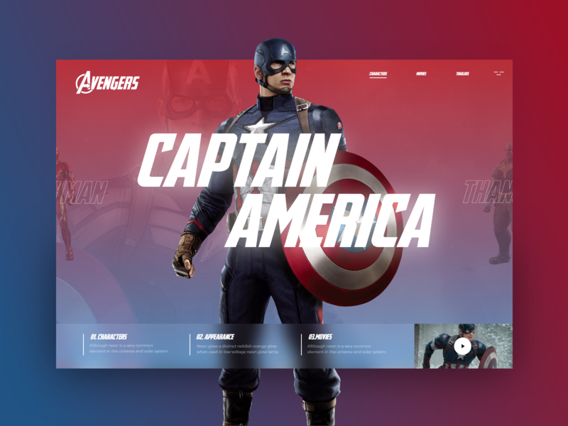 Avengers  #2 iron man captain america colorfull cookie ui uidesign ux uxdesign design avengers endgame end