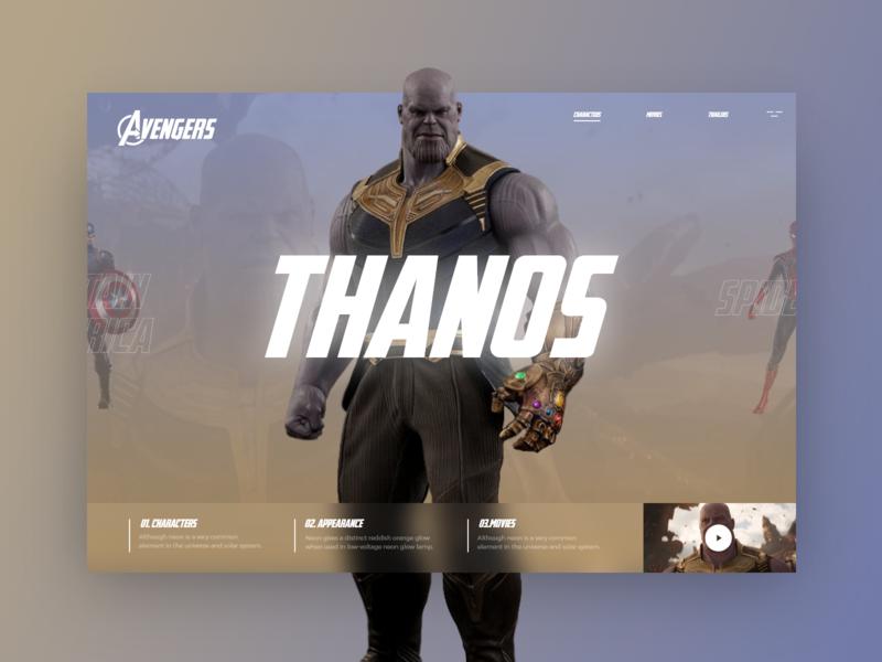 Avengers #3 thanos colorfull cookie ui uidesign ux uxdesign design avengers endgame end