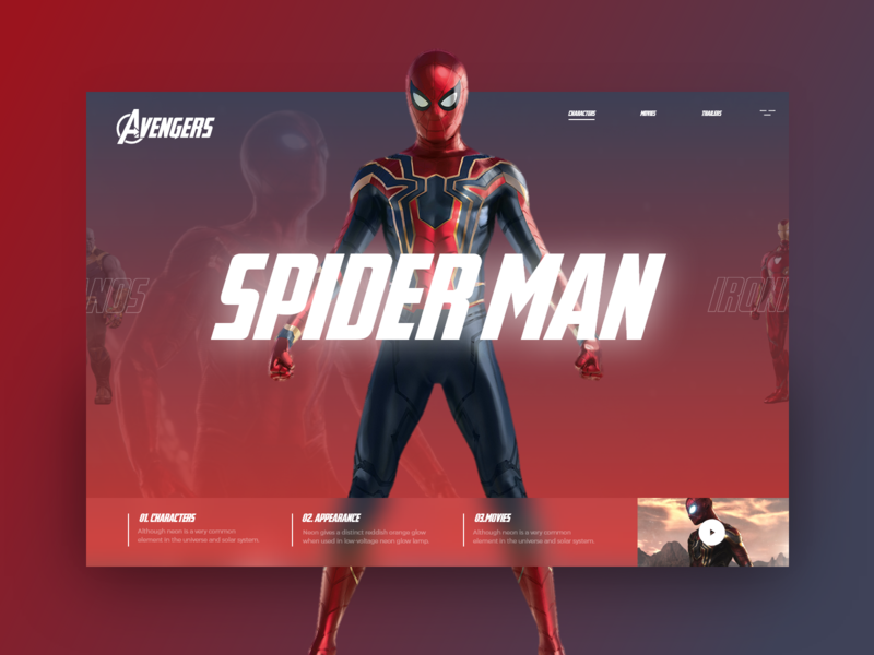Avengers  #4 spider man end endgame avengers design uxdesign ux uidesign ui cookie colorfull