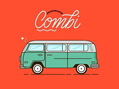 TypoCombi free llettering handmadefont typography monoline flat colorful throw cars