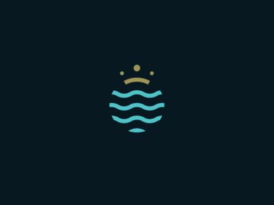 Kingdom Montenegro residence villa villas real estate ocean wave waves sea vector design simple minimal identity logo branding