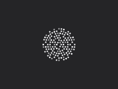 Circle mosaic pattern geometric geometry sqare cubes circle icon luxury music identity vector simple design minimal branding logo