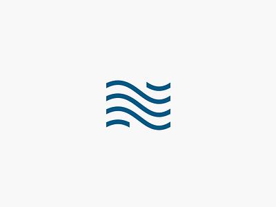 NjordEnergy norway sea wind n letter energy njord heating air condition hvac typography lettering letter calligraphy design simple minimal identity branding logo