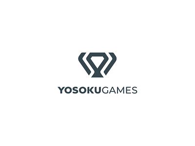 YosokuGames Banding cup goblet diamond gambling betting games fantasy sports sport simple minimal identity branding logo