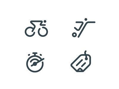Fantasy Sports Icons icon games fantasy sport bike cycling soccer football one 1 formula formulaone icons design minimal simple logo branding