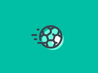 Football Icon 2 game kick shot sports sport app icon ball soccer football ux ui illustration simple minimal identity branding logo