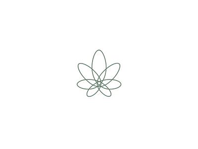 Cannabis flower nature pharma pharmaceutical rx care cosmetic marijuana herbal herb pot cbd cannabis flower leaf elgeant simple minimal identity branding logo