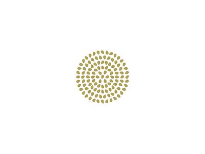 Seeds natural nature fruit vegetable herbal radial geometry circle plant seeds seed design illustration simple minimal identity branding logo