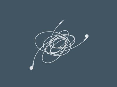 Earphones app icon ui ux vector design simple music minimal illustration identity branding logo apple airpods earpods earphone