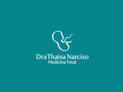 DraThaisaNarciso Logo doctor dr fetus baby simple calligraphy minimal identity illustration branding elegant logodesign logotype logos logo