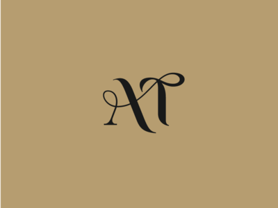 AT at logo t letter t logo a letter calligraphy minimal identity letter simple design music lettering branding logo