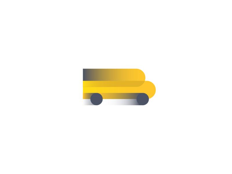School Bus simple ux bus school design letter identity illustration minimal branding logo