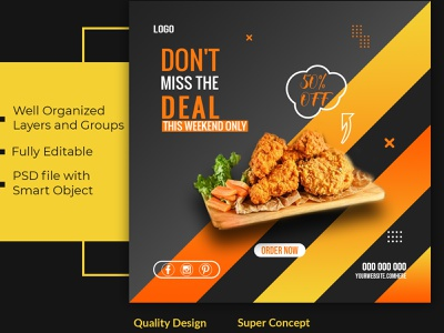 Social media Banner design Restaurant food sale flat food banner restaurant design social media socialmedia instagram template instagram stories twitter banner facebook ad instagram post graphic design clean minimal social media design