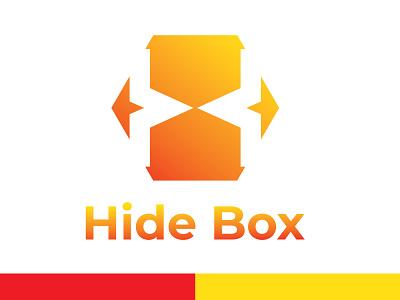 Hide box logo with H letter h letter logo h letter hide box hide and seek hide designer app vector icon flat graphic design design logo clean minimal