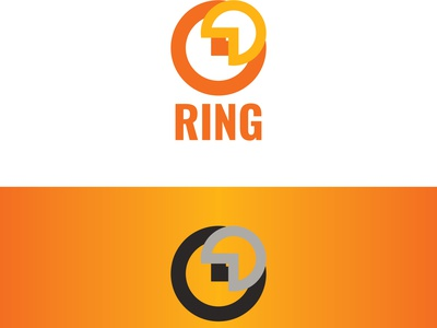 Ring logo design ring logo rings ring flat icon design designer app vector logo clean graphic design minimal