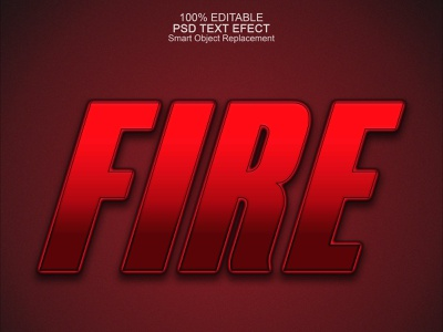Fire text effect fire effects effect designer clean flat logo vector design graphic design text effects text effect