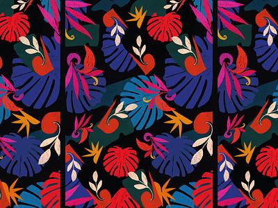 Nature Pattern background floral design flower floral digitalart flat illustration flat design flatdesign digital art