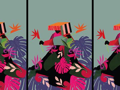 Colla Woman colla qolla background digitalart peruvian peru flat illustration flat design flatdesign culture digital art
